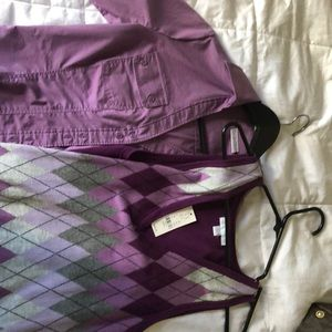 Ladies dress shirt and over vest